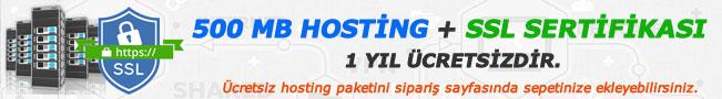 Ücretsiz Hosting ve Sll Sertifikası