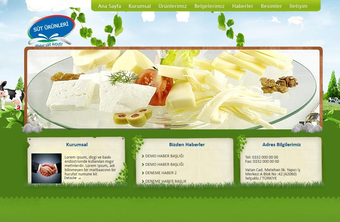 Süt Ürünleri  Firma Script