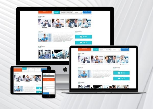 Doktor / Klinik Web Sitesi Paketi Medol v3.0