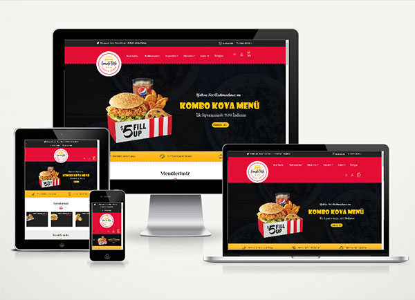 E-Ticaret Paketi Fast Food Tom