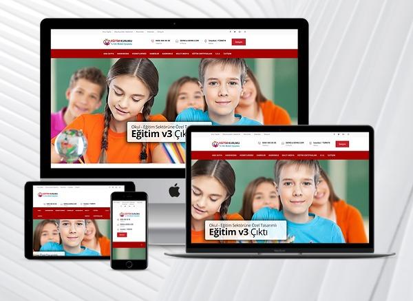 Eğitim Kurumları Web Sitesi Study v3.0