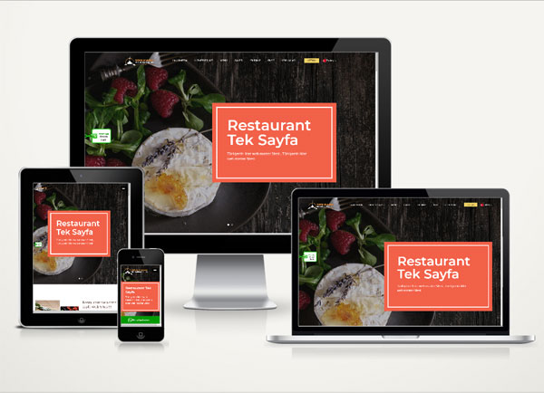 Restaurant Web Sitesi Onepage
