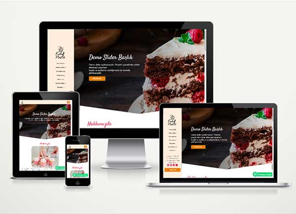Pastane Web Sitesi Paketi Cake v4.5