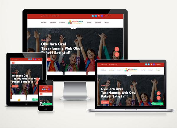 Kreş / Eğitim Kurumu  Web Sitesi Paketi Garten v