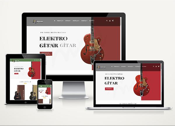 Müzik Aletleri E-Ticaret Paketi Voll v4.5