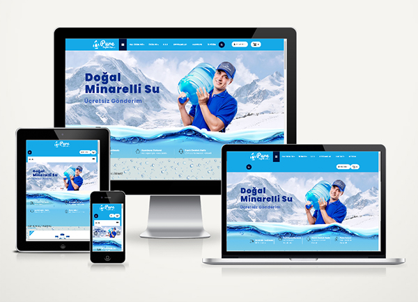 Su Bayi / Su Arıtma Cihazı E-Ticaret Paketi Pure